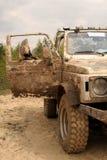samochód z odpoczynkowej drogi Obraz Royalty Free