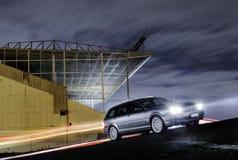 Samochód zaświeca stadium Zdjęcie Royalty Free