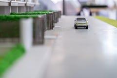 Samochód zabawka na drodze Zdjęcia Stock