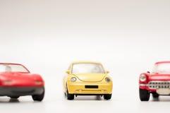 Samochód zabawki na bielu Obrazy Stock