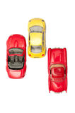 Samochód zabawki na bielu Zdjęcia Stock