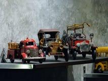 Samochód zabawki na półkach Fotografia Stock