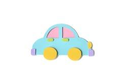 Samochód zabawki papier ciący - odosobniony Obraz Stock