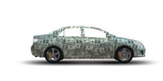 Samochód zakrywający z my dolar - 3d rendering royalty ilustracja