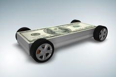 Samochód zakrywający z my dolar - 3d rendering ilustracji