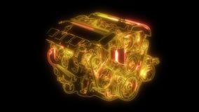 Samoch?d technologia Samochodowy kompresor animacja w cyfrowego pokazu panelu zbiory