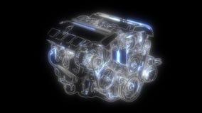 Samoch?d technologia Samochodowy kompresor animacja w cyfrowego pokazu panelu zdjęcie wideo