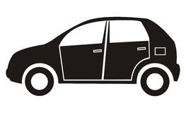 Samochód, czarna sylwetka Obrazy Royalty Free