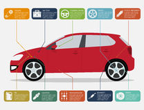 Samochód infographic Zdjęcia Stock