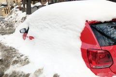 samochód objętych śnieg Obraz Stock