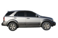 samochód odizolowywający nad srebnym biel Obraz Stock