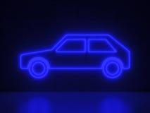 Samochód - seria Neonowi znaki Fotografia Royalty Free