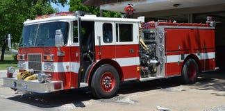 Samochód strażacki na pośpiechu Obraz Royalty Free