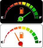 samochód wymierza benzynę Fotografia Stock