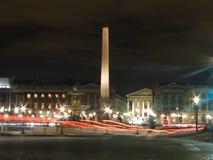 Samochodów światła w Paryż Obraz Royalty Free