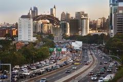 samochodów autostrady dżem sy Fotografia Stock