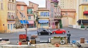 samochodów Disney Paris studiów wyczyn kaskaderski obrazy stock