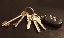 Samochodów i domu klucze Zdjęcia Royalty Free