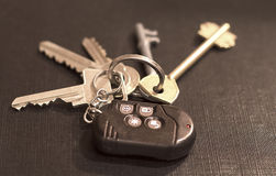 Samochodów i domu klucze Zdjęcie Royalty Free