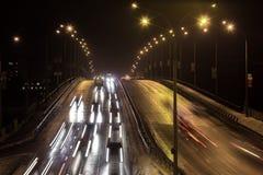 Samochodów im ruch tęsk ujawnienie Fotografia Royalty Free