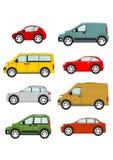 samochodów kreskówki ilustracyjny setu wektor Fotografia Royalty Free