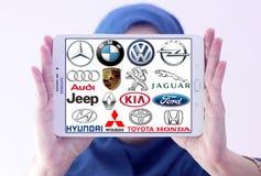 Samochodów logowie i gatunki Obrazy Royalty Free