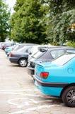 samochodów zaparkowanych Fotografia Stock