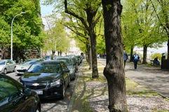 samochodów zaparkowanych Zdjęcie Royalty Free