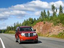 samochodowa autostrady czerwień zdjęcie stock