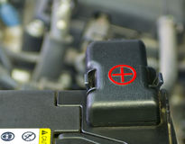 Samochodowa bateria Fotografia Royalty Free