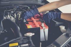 Samochodowa bateria obraz royalty free