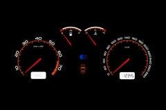 Samochodowa deska rozdzielcza, samochodu kontrola iluminujący panel royalty ilustracja