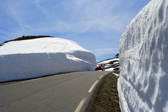 samochodowa drogowa zima Fotografia Stock