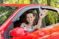 Samochodowa dziewczyna Fotografia Stock