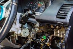 Samochodowa elektryczna naprawa. Obraz Stock