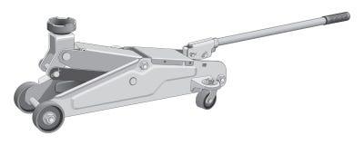 samochodowa hydrauliczna dźwigarka Zdjęcia Royalty Free