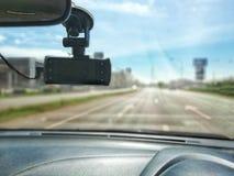Samochodowa kamera, samochodowy zbawczy pojęcie w ulicie obraz royalty free