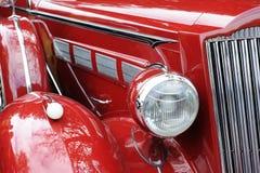 samochodowa klasyczna czerwień Zdjęcia Royalty Free