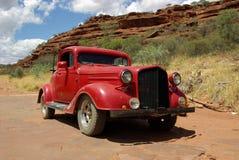 samochodowa klasyczna stara czerwień Obraz Royalty Free
