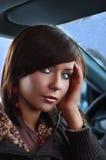 samochodowa kobieta Zdjęcia Royalty Free