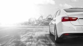 Samochodowa mknięcie zakupu zimy droga obraz stock
