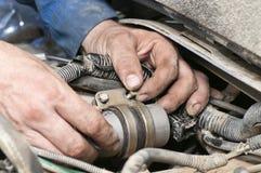 Samochodowa naprawianie praca fotografia royalty free