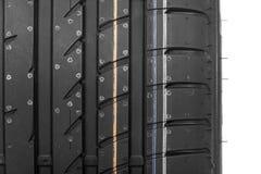 Samochodowa opona odizolowywająca na białym tle Obraz Stock