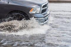 Samochodowa pluśnięcie powódź Zdjęcia Stock