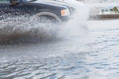 Samochodowa pluśnięcie powódź Obraz Stock