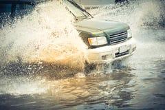 Samochodowa pluśnięcie powódź Zdjęcia Royalty Free