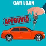 Samochodowa pożyczka, płaski projekt, wektorowa ilustracja Obrazy Royalty Free