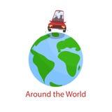 Samochodowa podróż dookoła świata royalty ilustracja