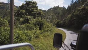 Samochodowa podróż przez dżungli zdjęcie wideo