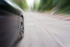 Samochodowa prędkość, pojęcie podróż fotografia stock